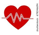 heartbeat line in heart cardio. ... | Shutterstock .eps vector #678246694