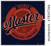 vintage biker graphics and... | Shutterstock .eps vector #678247366