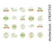 natural logos | Shutterstock .eps vector #678247510