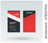 modern creative vertical red... | Shutterstock .eps vector #678247966