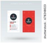 modern creative vertical red... | Shutterstock .eps vector #678248023