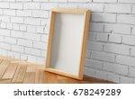 frame in loft interior  | Shutterstock . vector #678249289