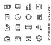 finance icon in outline style | Shutterstock .eps vector #678261484