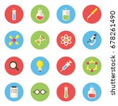 science and labs icon in flat... | Shutterstock .eps vector #678261490