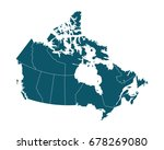 map of canada   high detailed... | Shutterstock .eps vector #678269080