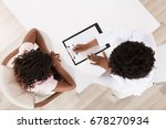 high angle view of doctor and... | Shutterstock . vector #678270934