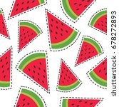fresh fruits  hand drawn... | Shutterstock .eps vector #678272893