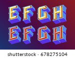 3d vintage letters with... | Shutterstock .eps vector #678275104