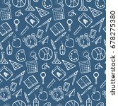seamless vector blue pattern... | Shutterstock .eps vector #678275380