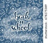 vector back to school... | Shutterstock .eps vector #678275389