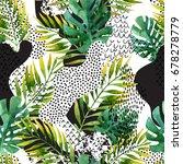 abstract summer geometric... | Shutterstock . vector #678278779