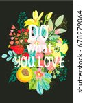 beautiful greeting card  floral ... | Shutterstock .eps vector #678279064