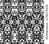 ethnic geometric pattern. black ... | Shutterstock .eps vector #678279256