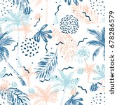 Nautical Seamless Pattern. Hand ...