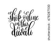 shop online in this diwali... | Shutterstock . vector #678287530