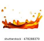 tea splash isolated on white... | Shutterstock .eps vector #678288370