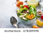 salad with chicken  paprika ... | Shutterstock . vector #678289498