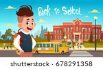 boy going back to school over