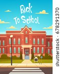 back to school modern building... | Shutterstock .eps vector #678291370