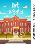 back to school modern building... | Shutterstock .eps vector #678291370