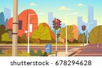 road empty city street with... | Shutterstock .eps vector #678294628
