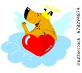 valentine's day dog character.... | Shutterstock .eps vector #678294874