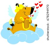 valentine's day dog character.... | Shutterstock .eps vector #678294970