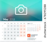 may 2018. calendar for 2018... | Shutterstock .eps vector #678295288