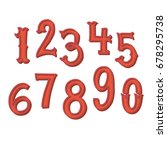 hand drawn vintage number set ... | Shutterstock .eps vector #678295738