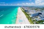 aerial view of miami beach ... | Shutterstock . vector #678305578