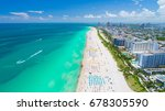 aerial view of miami beach ... | Shutterstock . vector #678305590