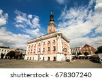 the baroque town hall at the... | Shutterstock . vector #678307240