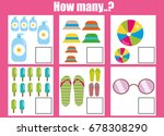 counting educational children... | Shutterstock .eps vector #678308290
