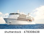 cruise ship. large luxury white ... | Shutterstock . vector #678308638