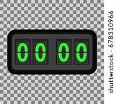 analog flip clock counter on... | Shutterstock .eps vector #678310966