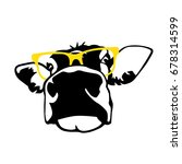 portrait of head of cow  sign...   Shutterstock .eps vector #678314599