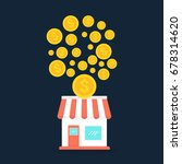 franchise business. small store ... | Shutterstock .eps vector #678314620