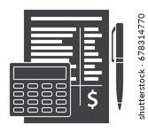 budget planning sheet with pen... | Shutterstock .eps vector #678314770