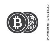 black bitcoins icon for...   Shutterstock .eps vector #678315160