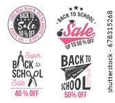 back to school design. for... | Shutterstock .eps vector #678315268