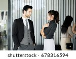 asian women working together... | Shutterstock . vector #678316594