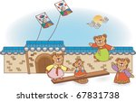 new year story of animal... | Shutterstock .eps vector #67831738
