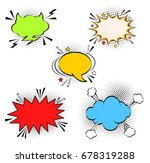 comic empty speech bubbles on... | Shutterstock .eps vector #678319288