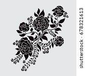 elegant decorative rose flowers ... | Shutterstock .eps vector #678321613