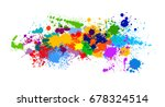 colorful paint of paint. vector | Shutterstock .eps vector #678324514