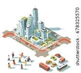 vector isometric info graphic... | Shutterstock .eps vector #678325570
