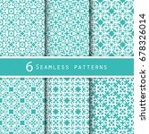 a pack of vintage pattern... | Shutterstock .eps vector #678326014