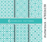 a pack of vintage pattern... | Shutterstock .eps vector #678326158