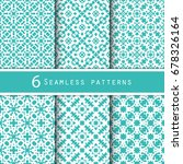 a pack of vintage pattern... | Shutterstock .eps vector #678326164