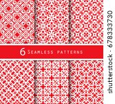 a pack of vintage pattern... | Shutterstock .eps vector #678333730